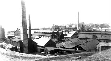 Zinc Works in Mineral Point, around 1890